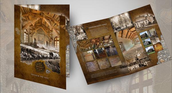 thiết kế brochure công tyvật liệu xây dựng