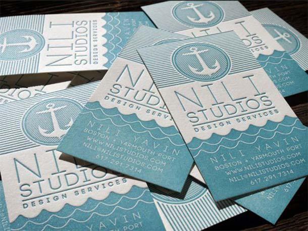 15 Unreal Letterpress Business Cards - 13