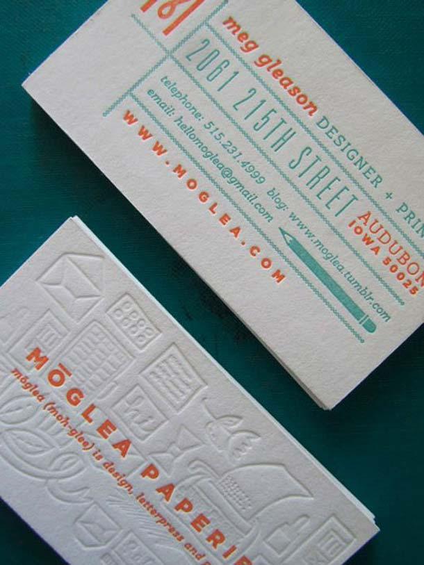 15 Unreal Letterpress Business Cards - 14
