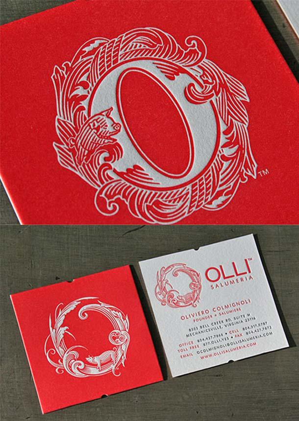 15 Unreal Letterpress Business Cards - 2